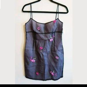 Laundry By Shelli Segal Sheer Overlay Dress..8P